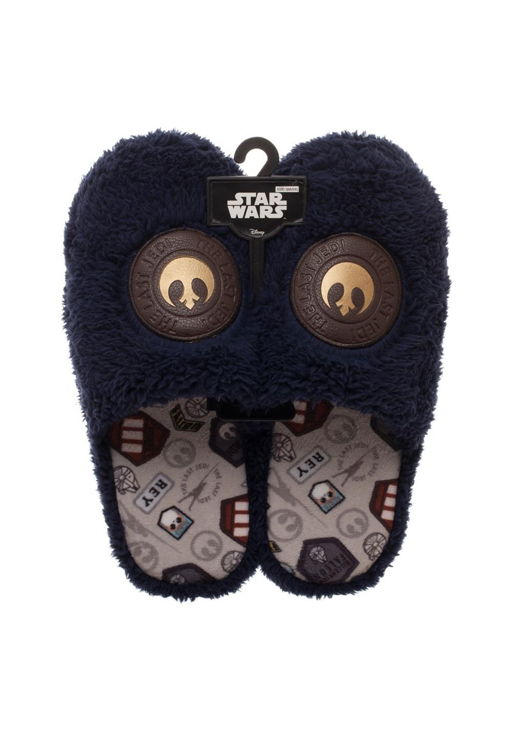 Star Wars The Last Jedi Rey Inspired Adult Scuff Style Slippers at Fun