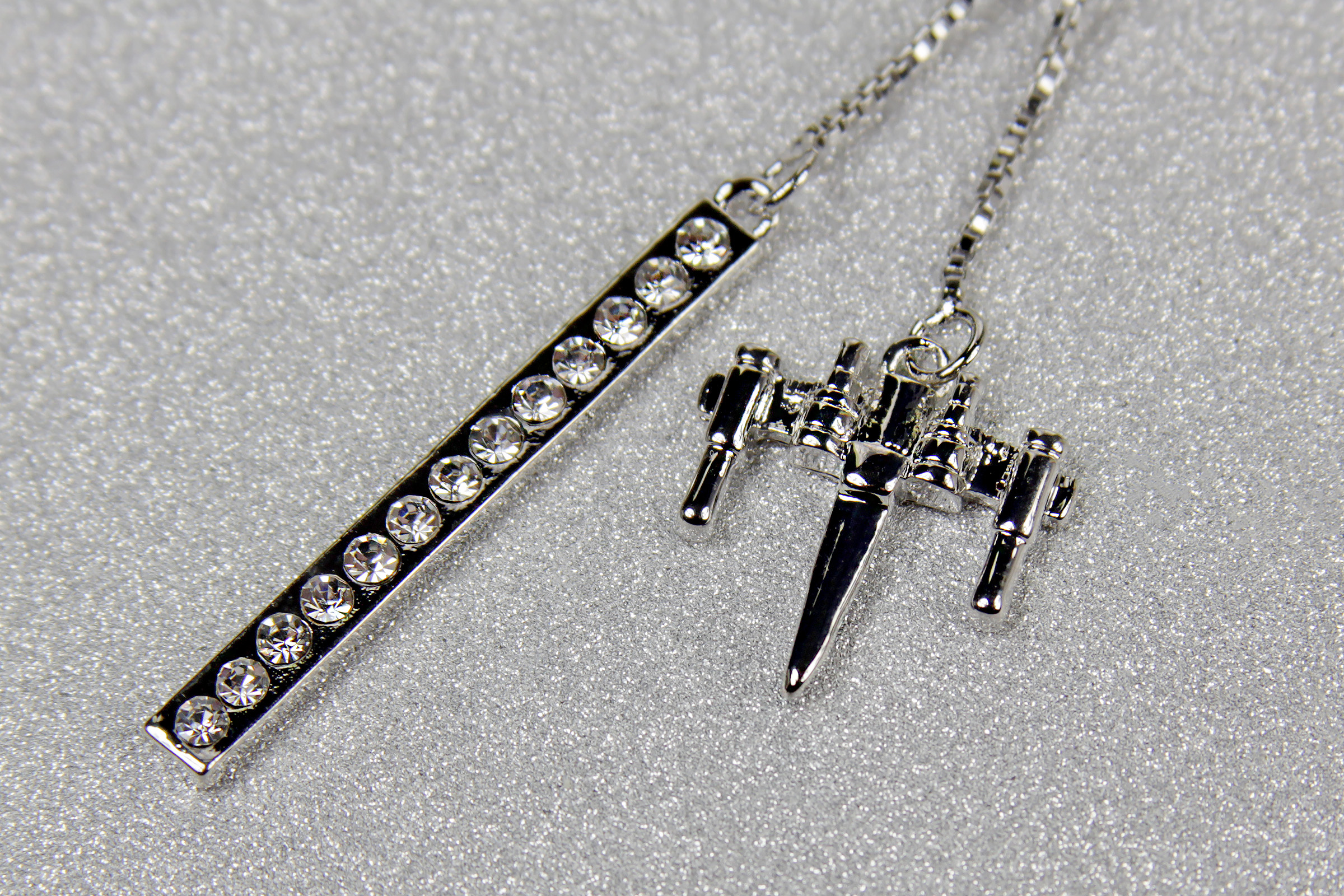 One Force Designs x Star Wars X-Wing Fighter Necklace (Silver Plated)