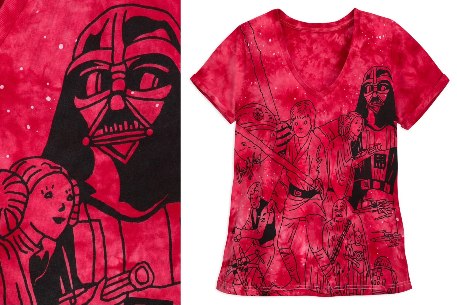 Women's Star Wars Printed Tie-Dye T-Shirt