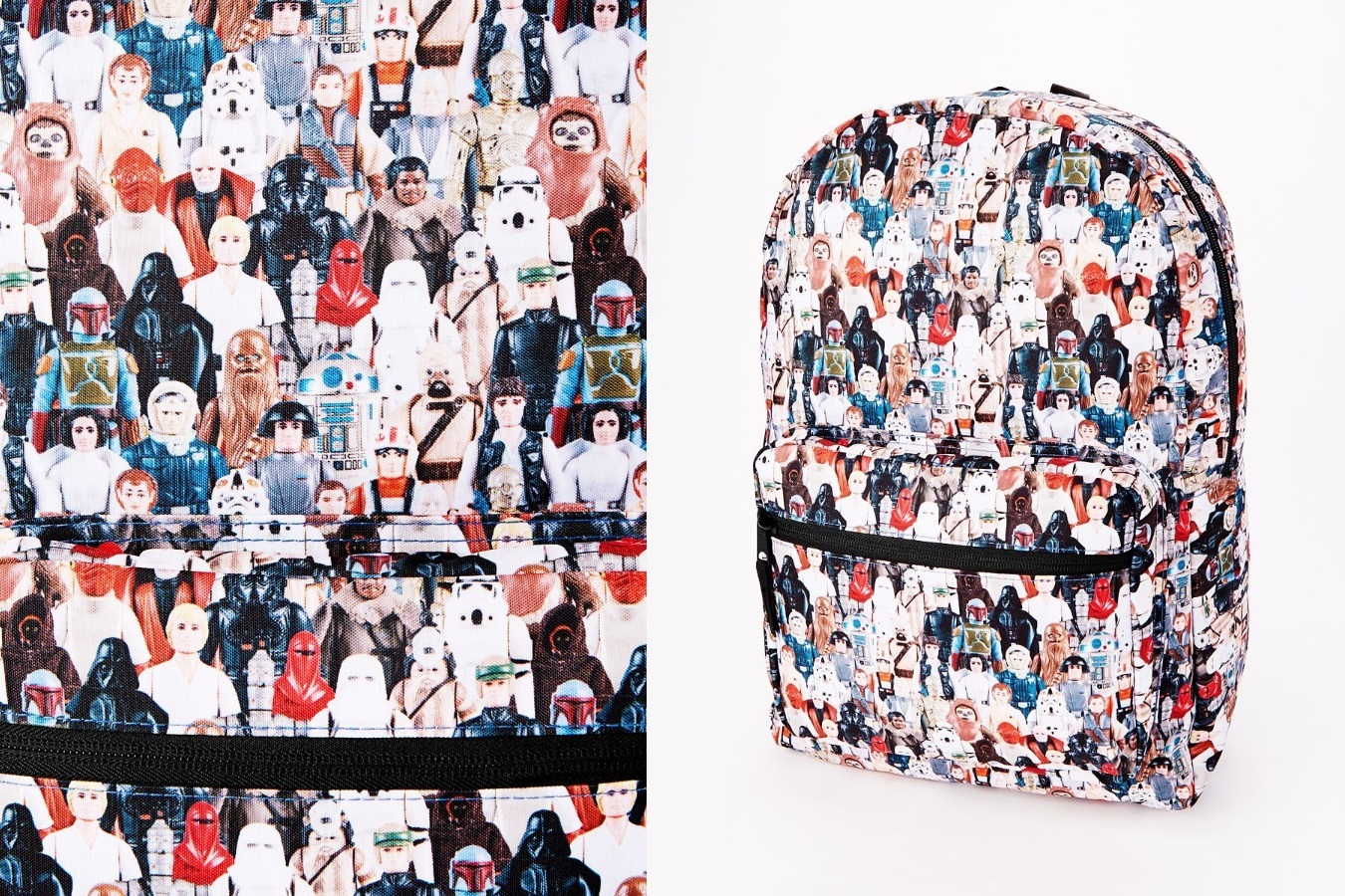 Star Wars Vintage Action Figure Print Backpack