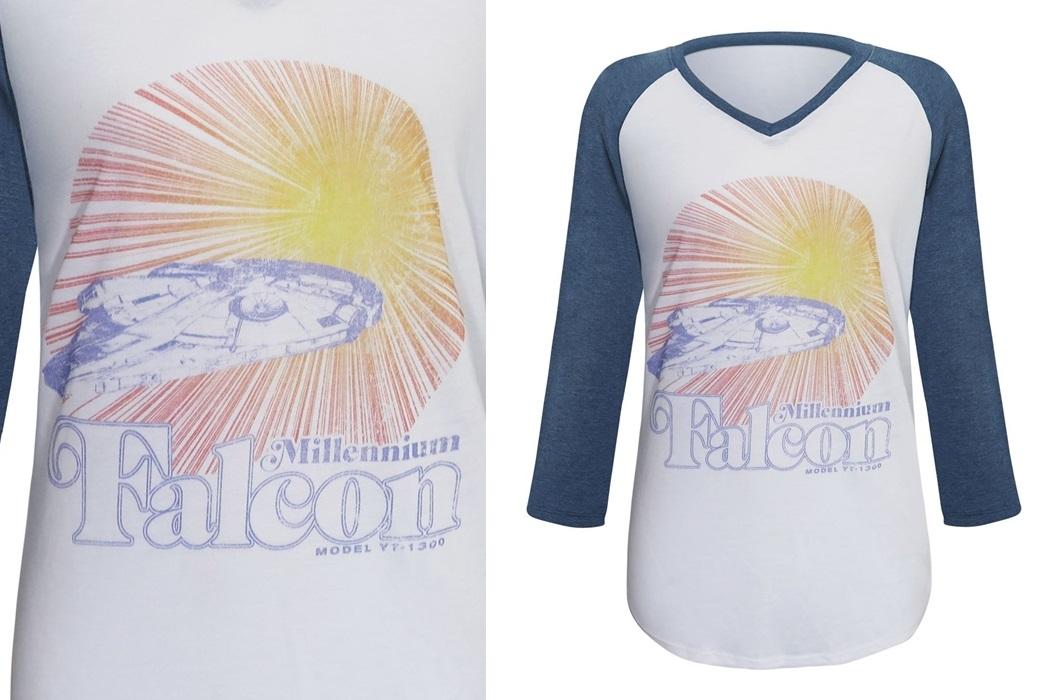 Solo Millennium Falcon Baseball T-Shirt