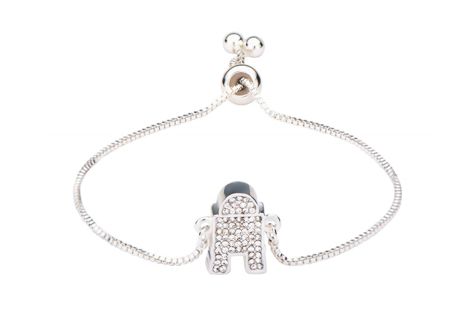 Silver Plated R2-D2 Bracelet on Amazon