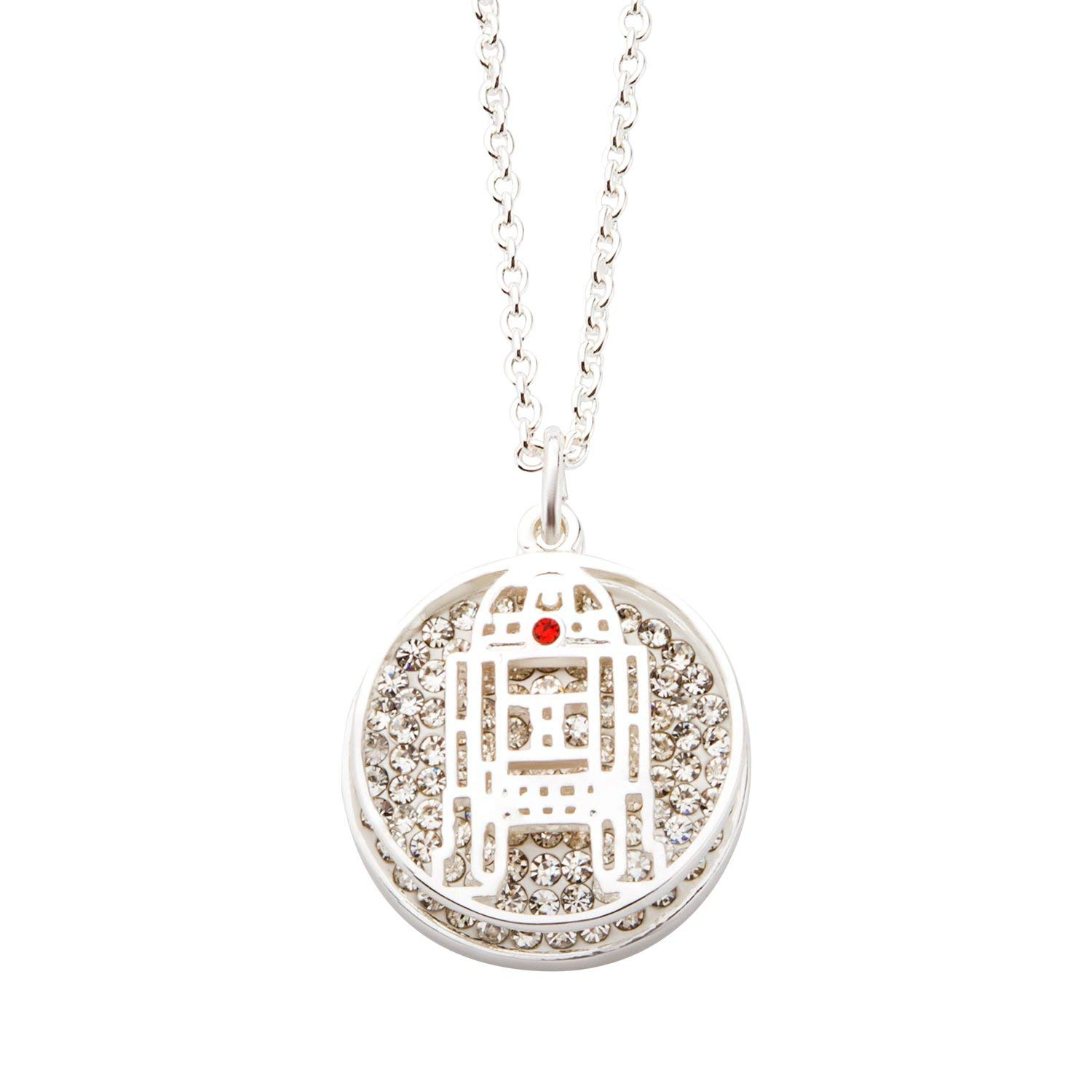 Body Vibe x Star Wars R2-D2 Clear Rhinestone Necklace on Amazon
