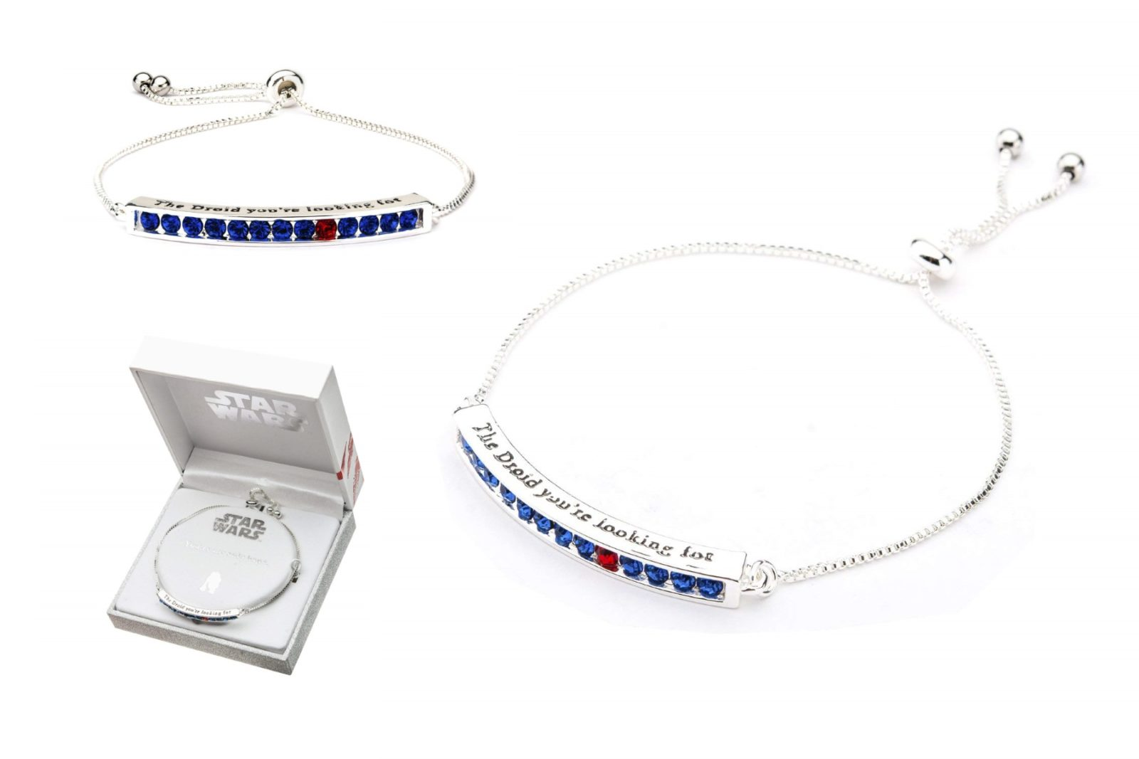 Star Wars R2-D2 Rhinestone Adjustable Bracelet