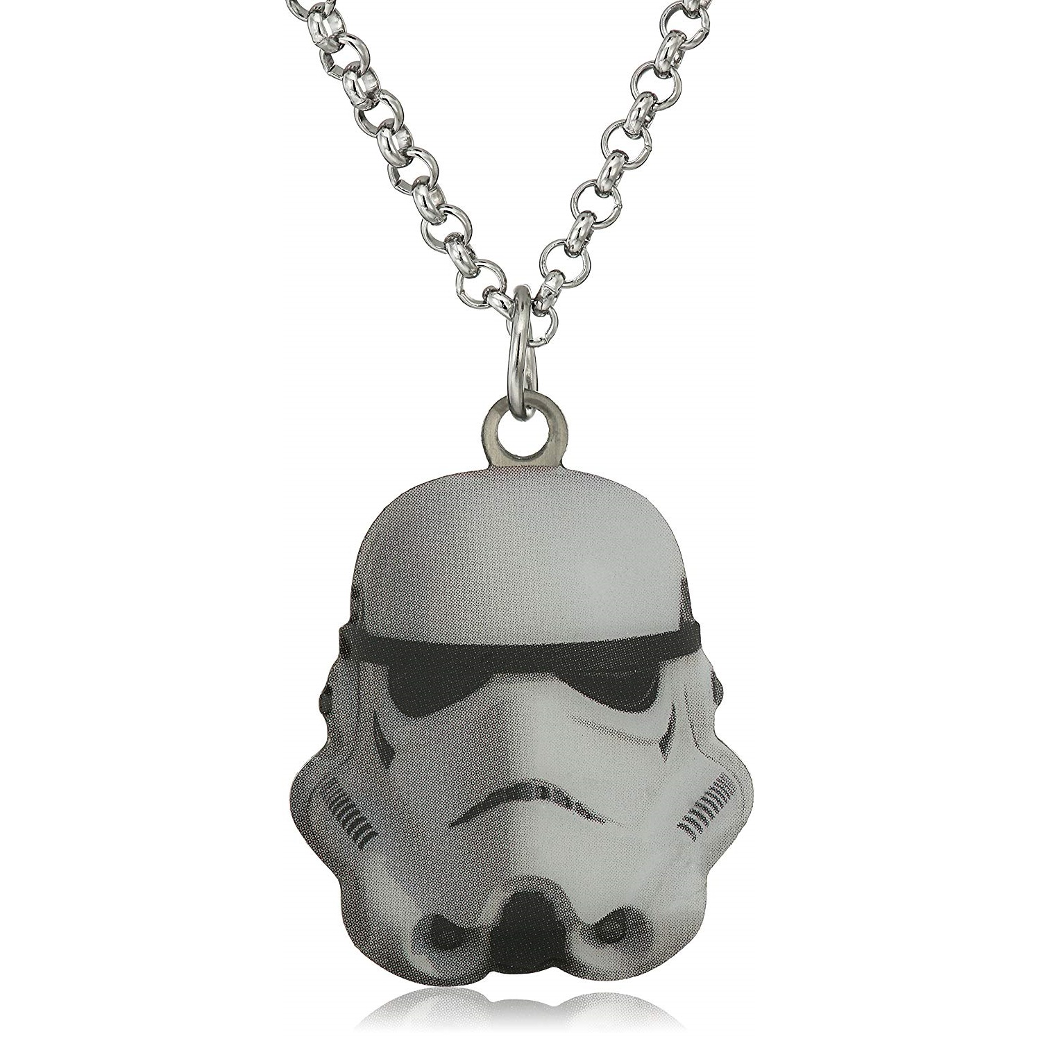 Body Vibe x Star Wars Stormtrooper Cut Out Pendant Necklace on Amazon