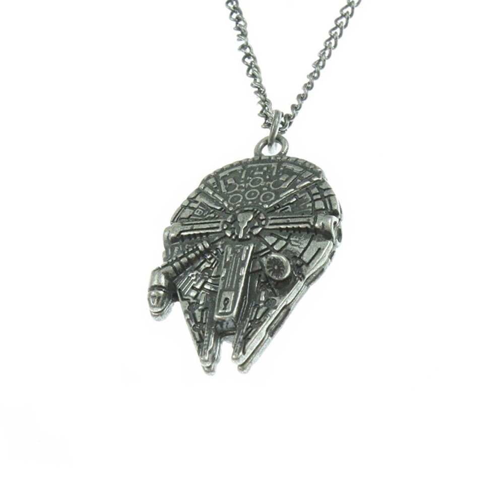 Star Wars Millennium Falcon Necklace on Amazon