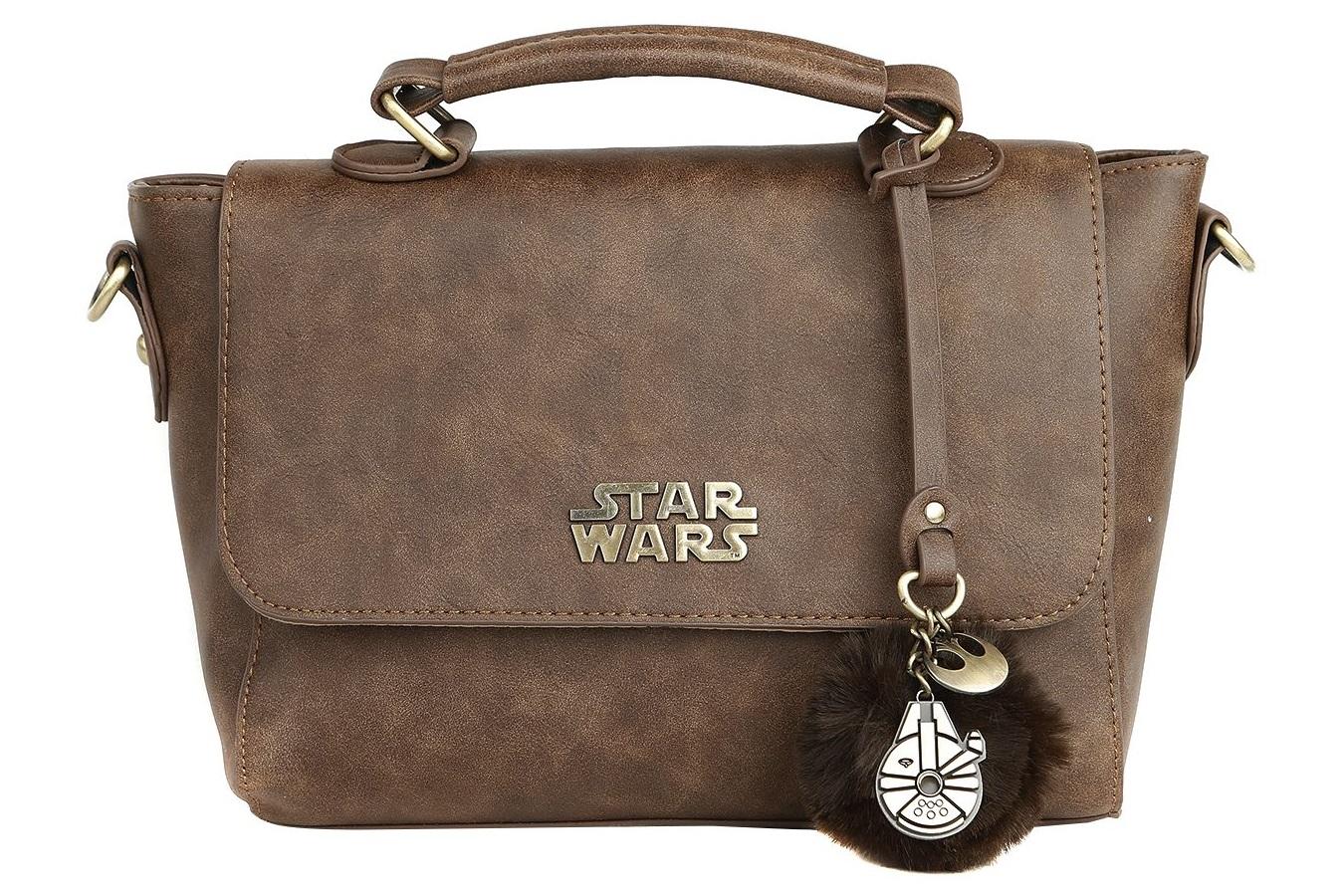 Disney Star Wars Chewbacca Crossbody Purse With Metal Millennium Falcon Charm