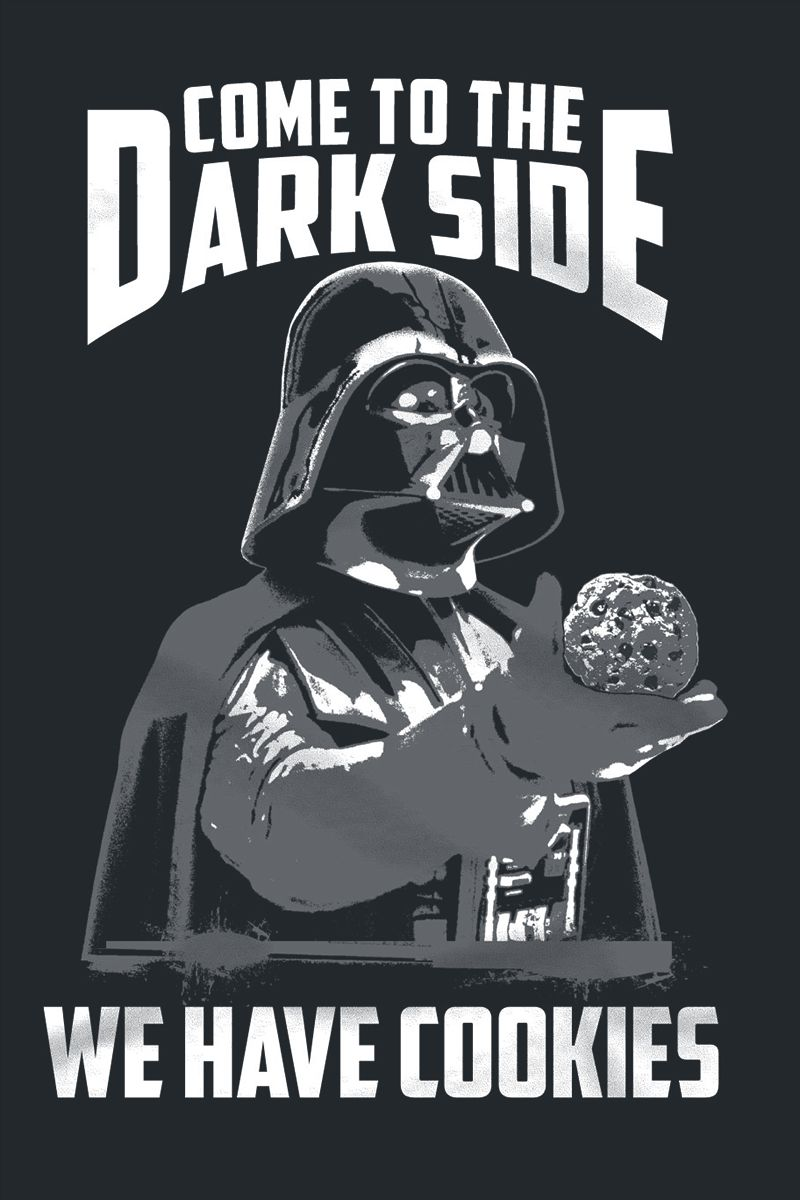 Women's Star Wars Darth Vader Dark Side Cookies T-Shirt at EMP Online