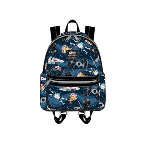 Loungefly x Star Wars Chibi Starships Mini Backpack at Entertainment Earth