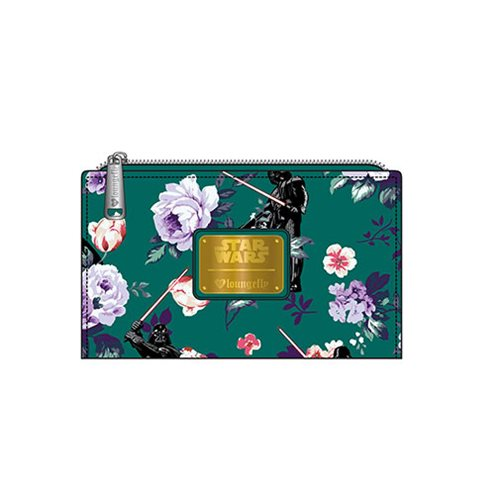 Loungefly x Star Wars Darth Vader Floral Print Bi-Fold Wallet at Entertainment Earth