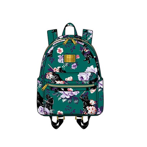 Loungefly x Star Wars Darth Vader Floral Print Mini Backpack at Entertainment Earth