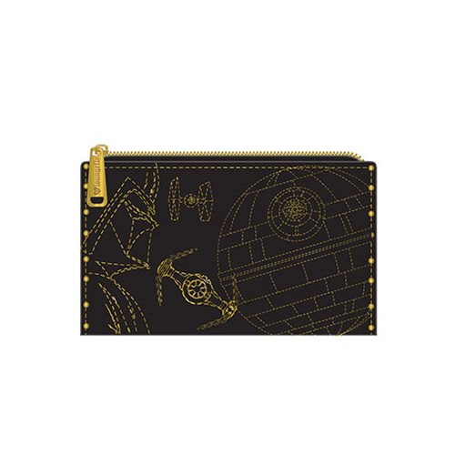 Loungefly x Star Wars Darth Vader Gold Stud Bifold Wallet at Entertainment Earth