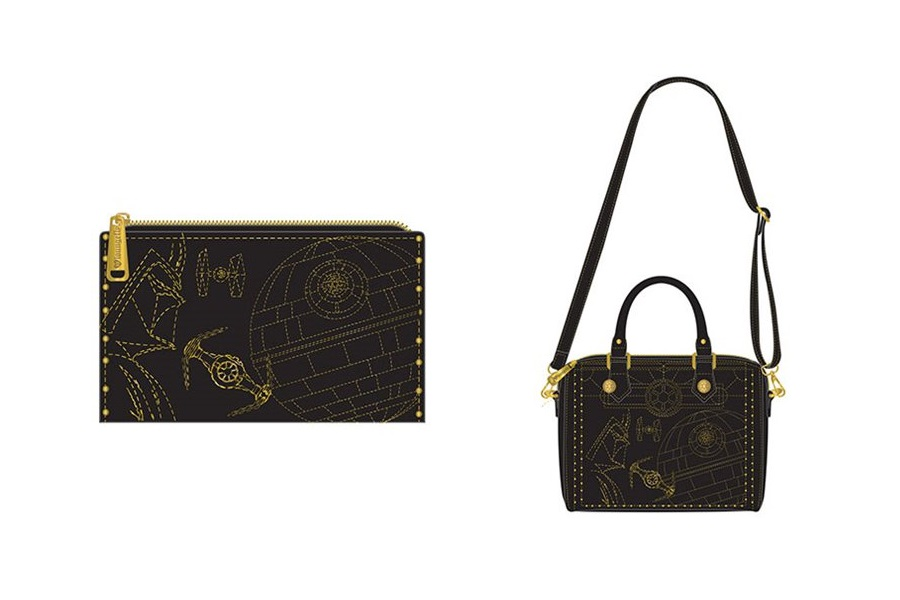 New Loungefly Darth Vader Gold Stud Handbag