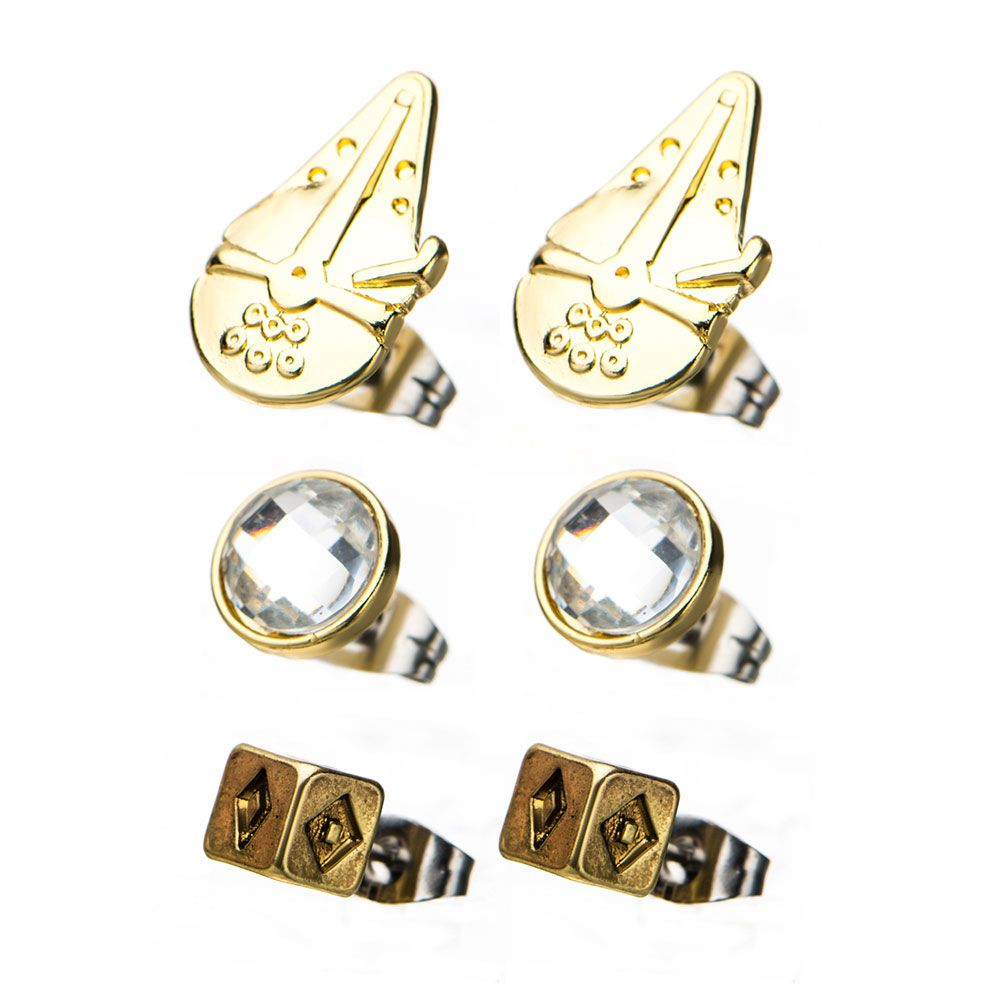 Body Vibe x Star Wars Solo Dice Stud Earring Set at Fandango Fan Shop