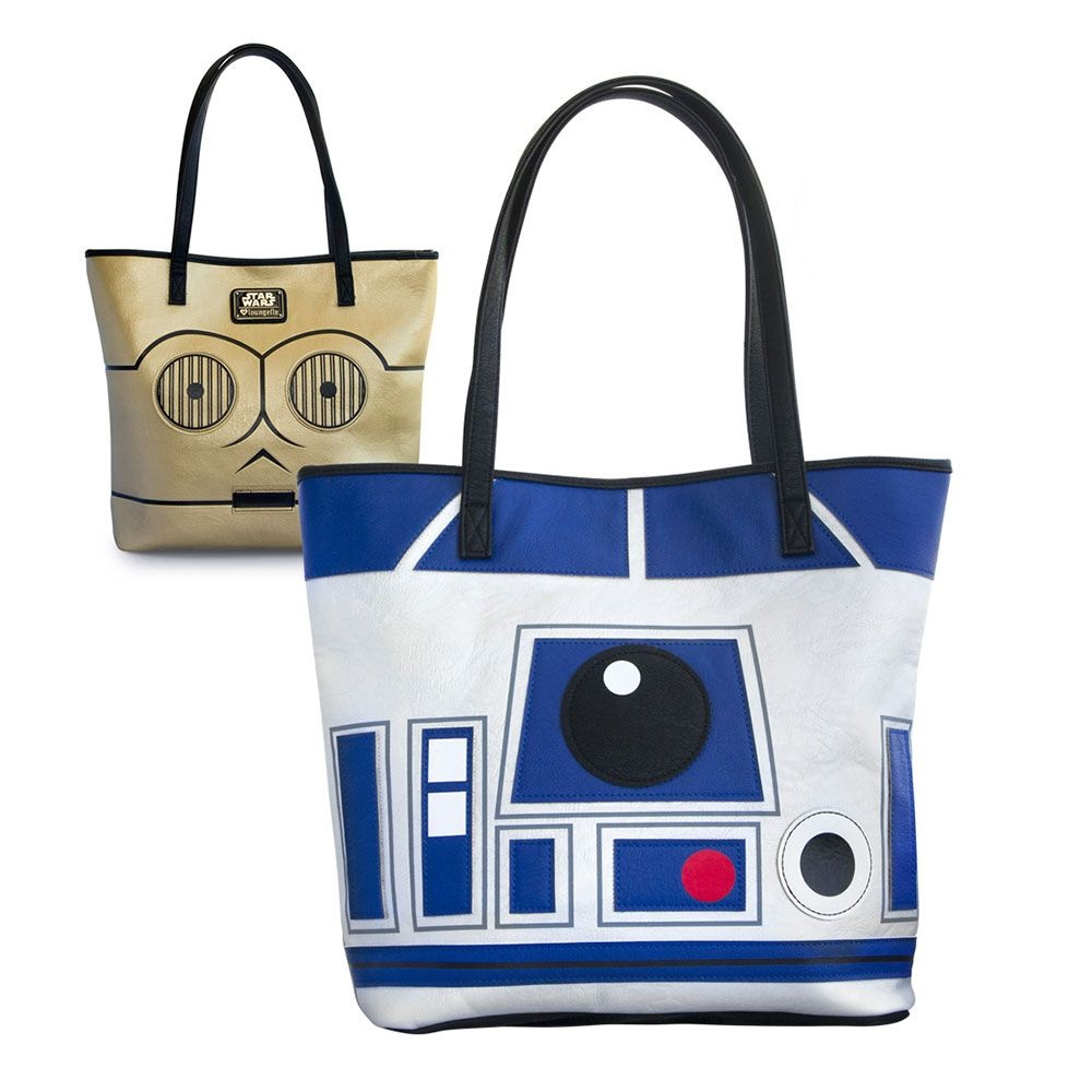 Loungefly x Star Wars R2-D2 and C-3PO 2-Sided Tote Bag at Fandango Fan Shop