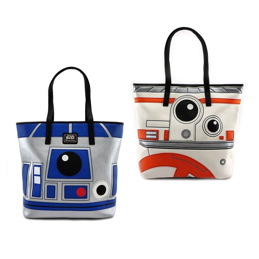 Loungefly x Star Wars R2-D2 and BB-8 2-Sided Tote Bag at Fandango Fan Shop