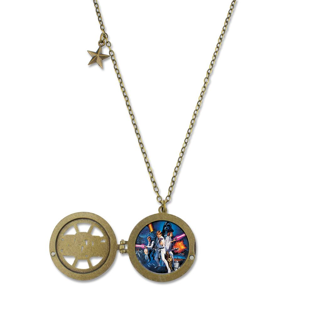 Star Wars Glitter Locket Necklace available exclusively at Fandango Fan Shop