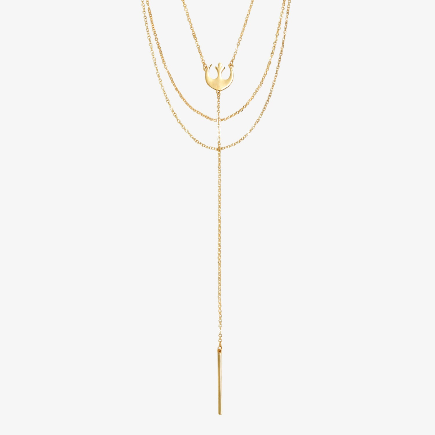 Loungefly x Star Wars Rebel Symbol Layered Necklace at Hot Topic