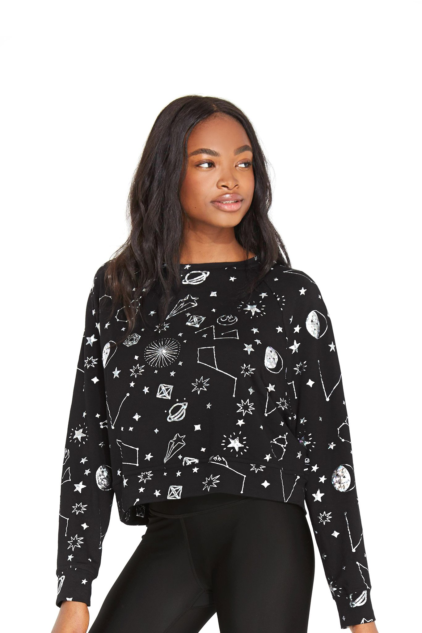 Women's Terez x Star Wars Rebel Galaxy Hologram Foil Crewneck