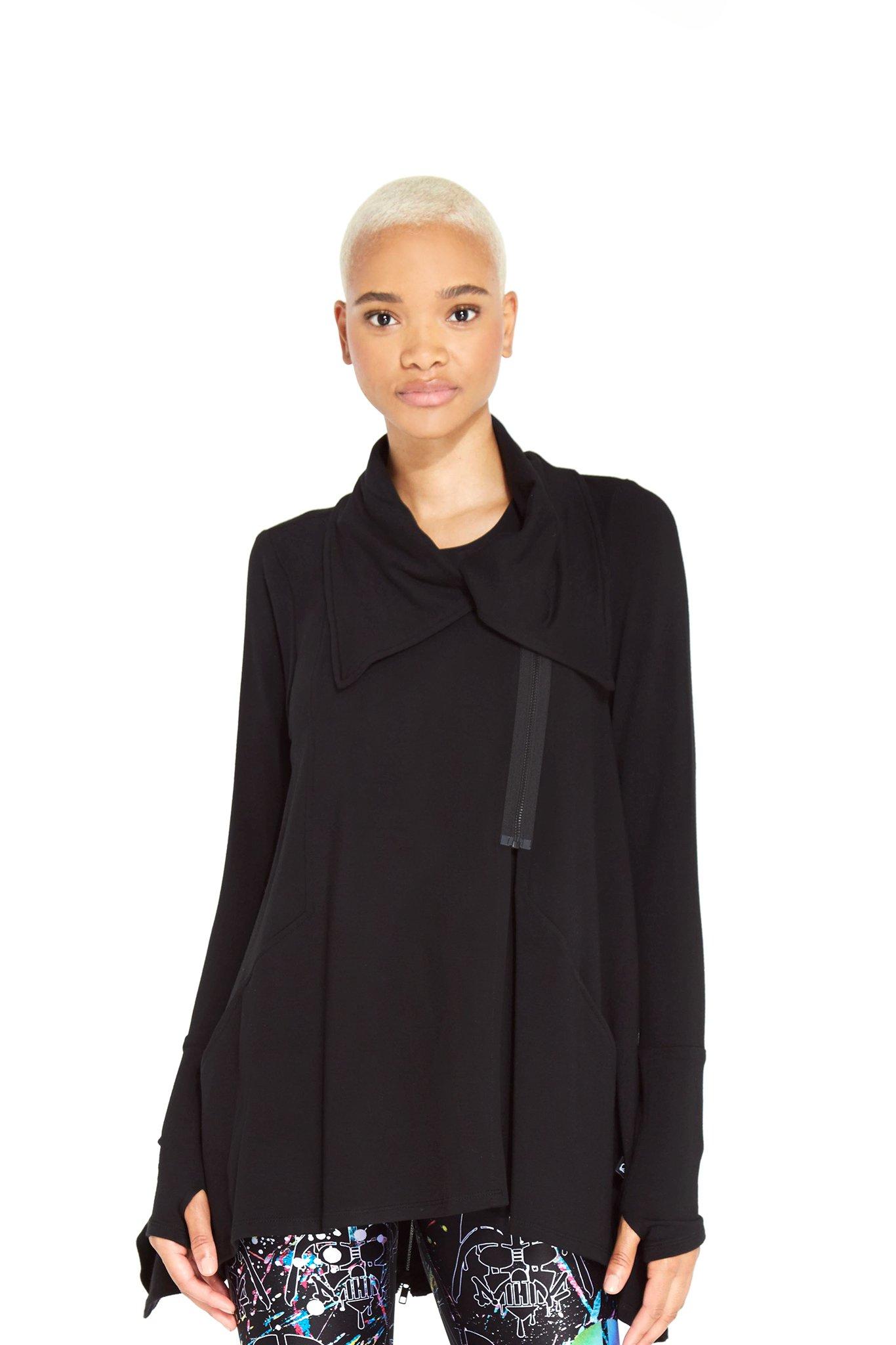 Women's Terez x Star Wars Rebel Black Drape Jacket