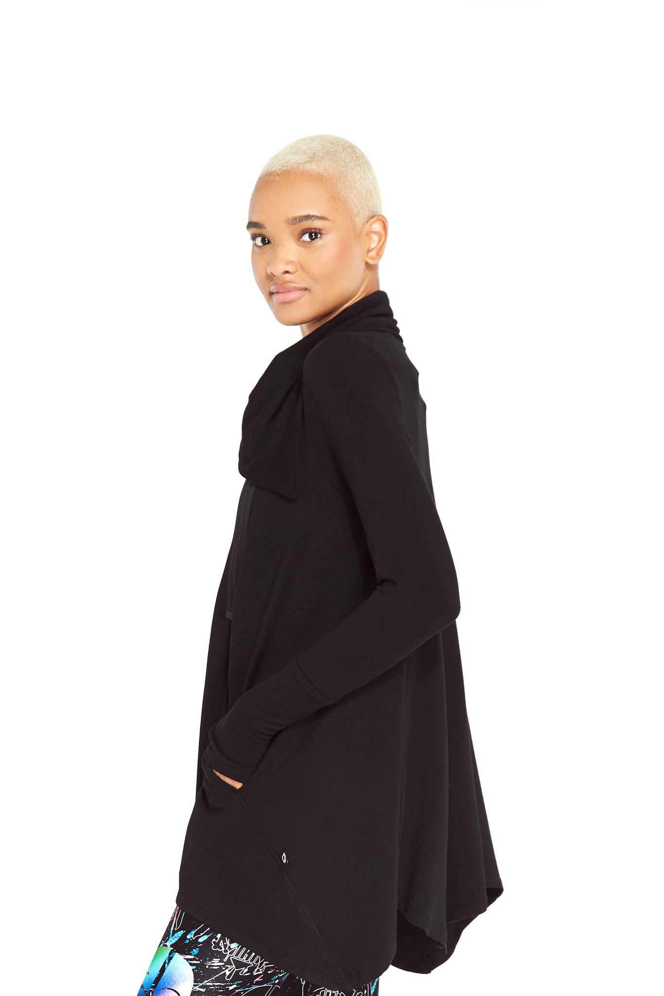 Women's Terez x Star Wars Rebel Black Drape Jacket