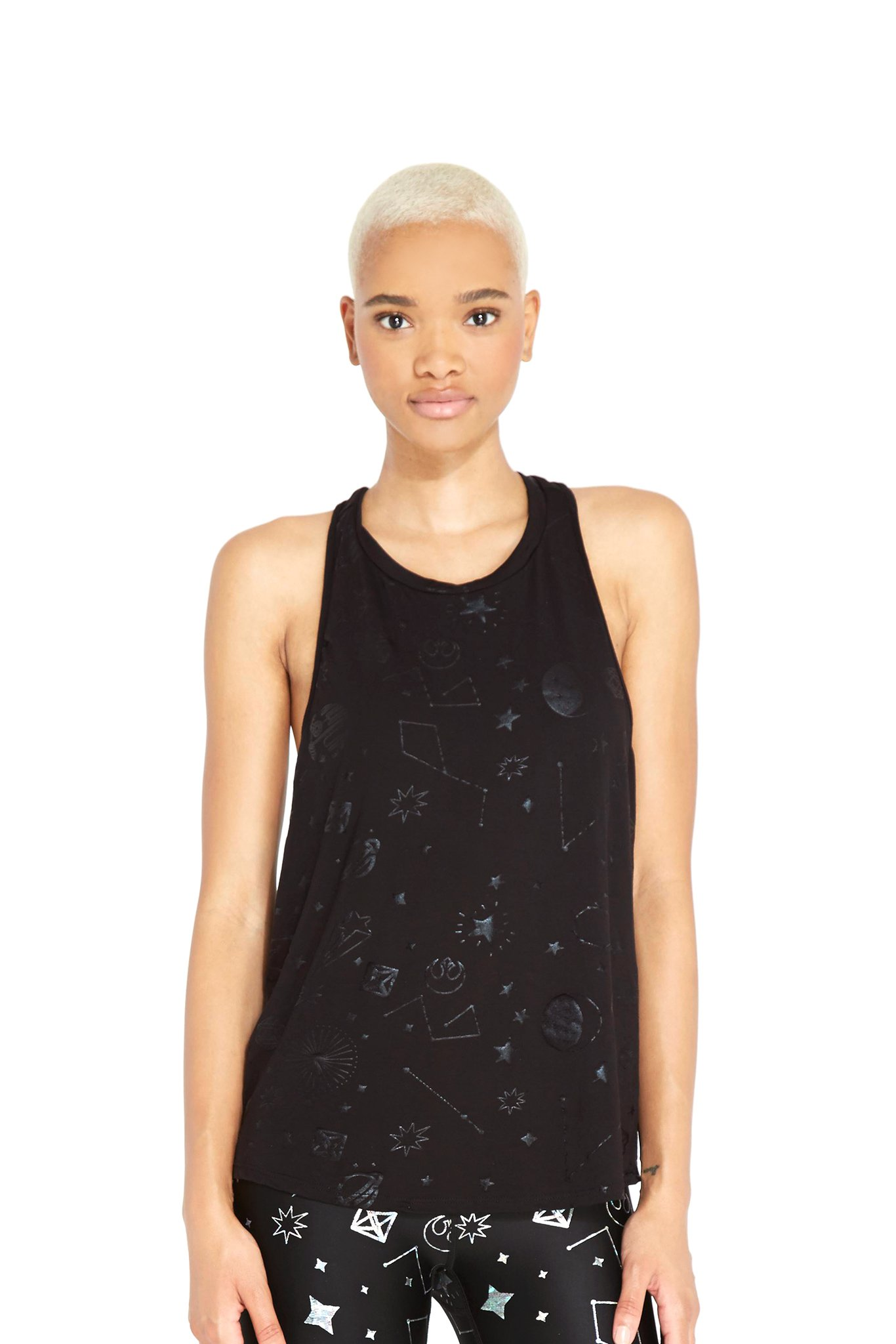 Women's Terez x Star Wars Rebel Galaxy Foil Racerback Tank