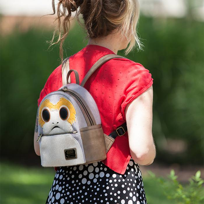 SDCC 2018 Exclusive Loungefly x Star Wars Porg Mini Backpack at ThinkGeek