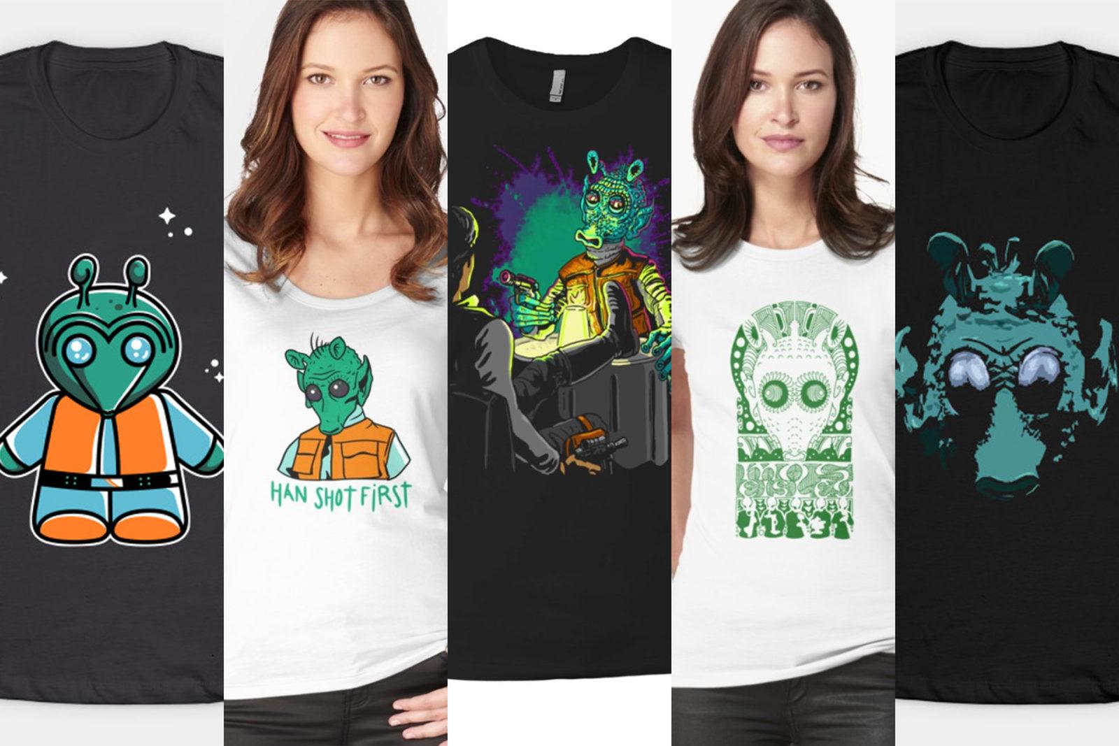 Leia's List – Women's Greedo Themed T-Shirts