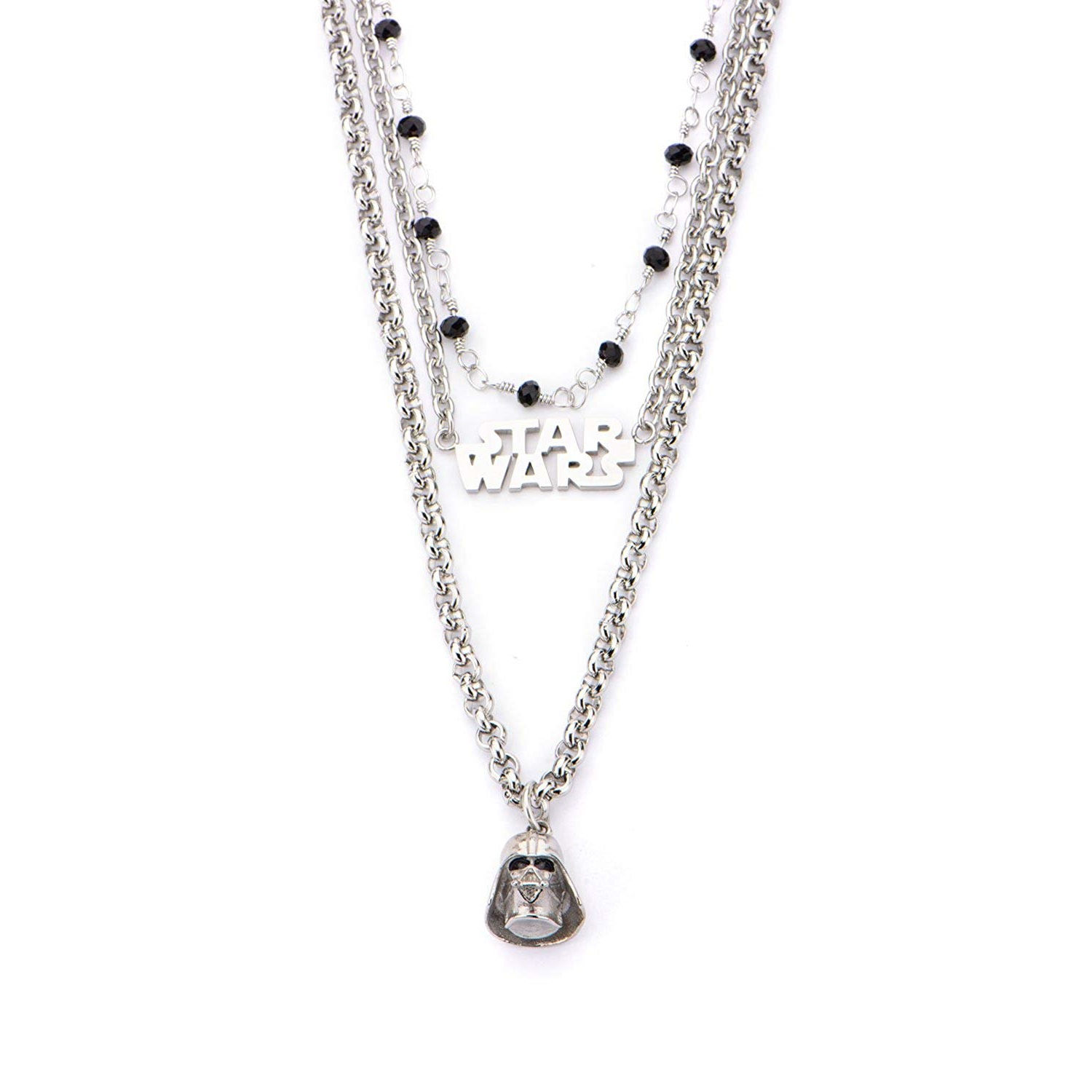 Body Vibe x Star Wars Darth Vader 3 Tiered Necklace on Amazon