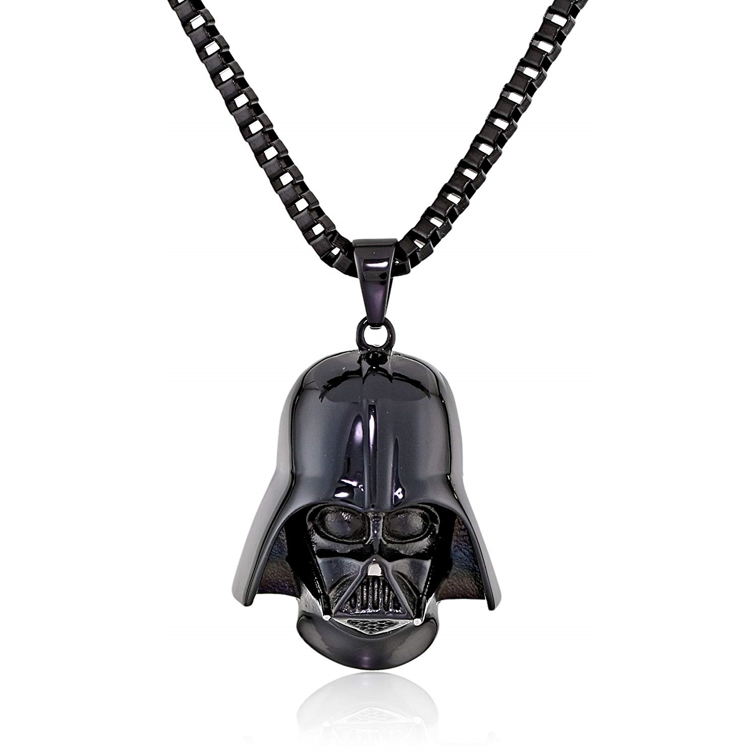 Body Vibe x Star Wars Darth Vader 3D Sculpt Helmet Necklace on Amazon