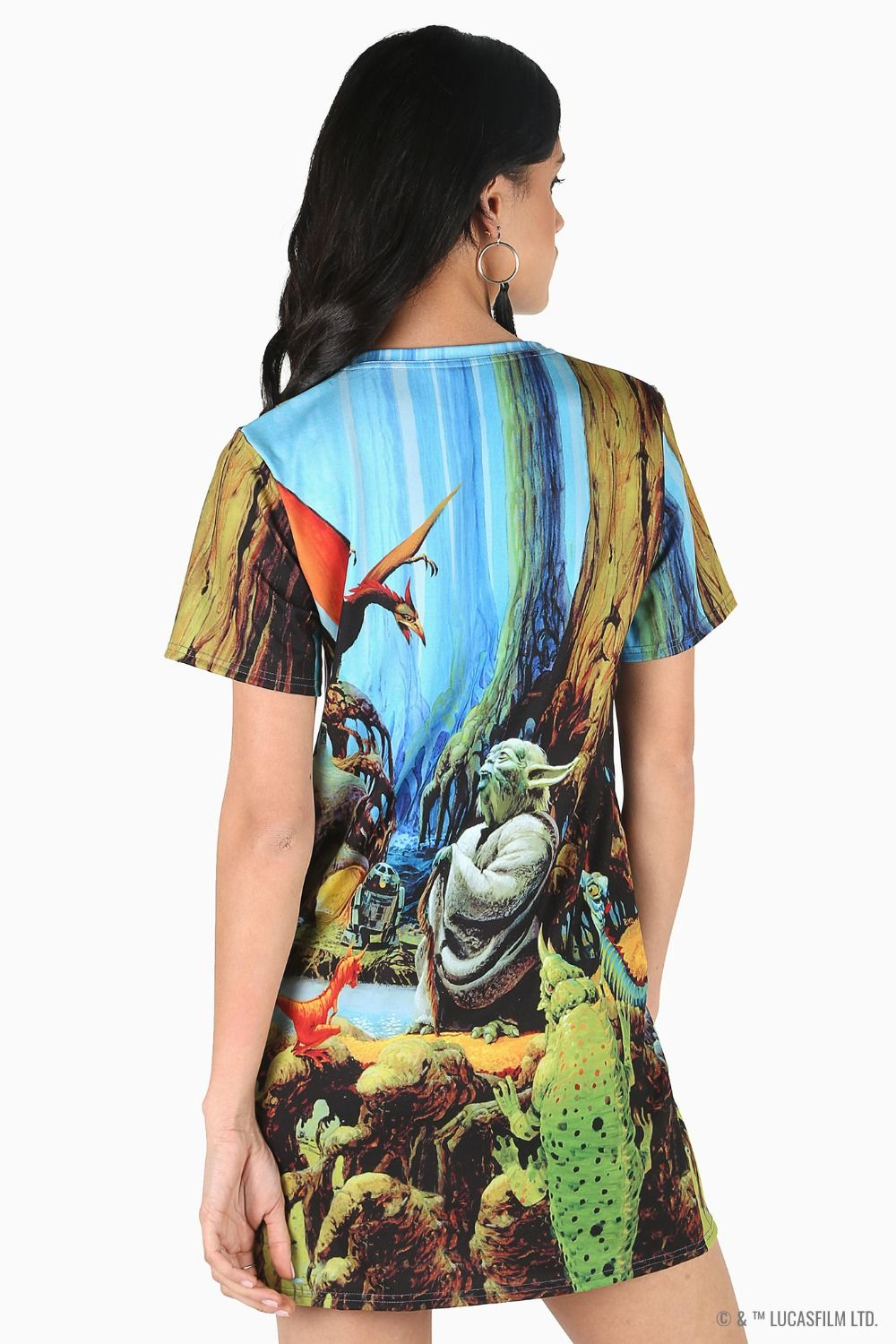 Black Milk Clothing x Star Wars Yoda On Dagobah Dress Tee