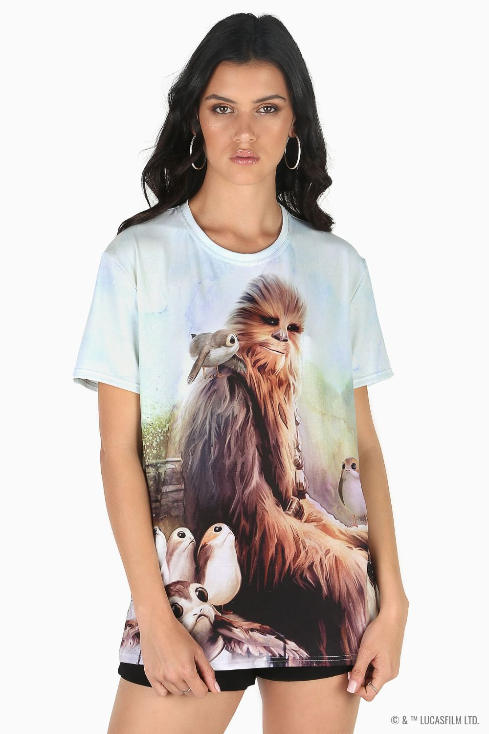 Black Milk Clothing x Star Wars Chewie And Porgs BFT T-Shirt