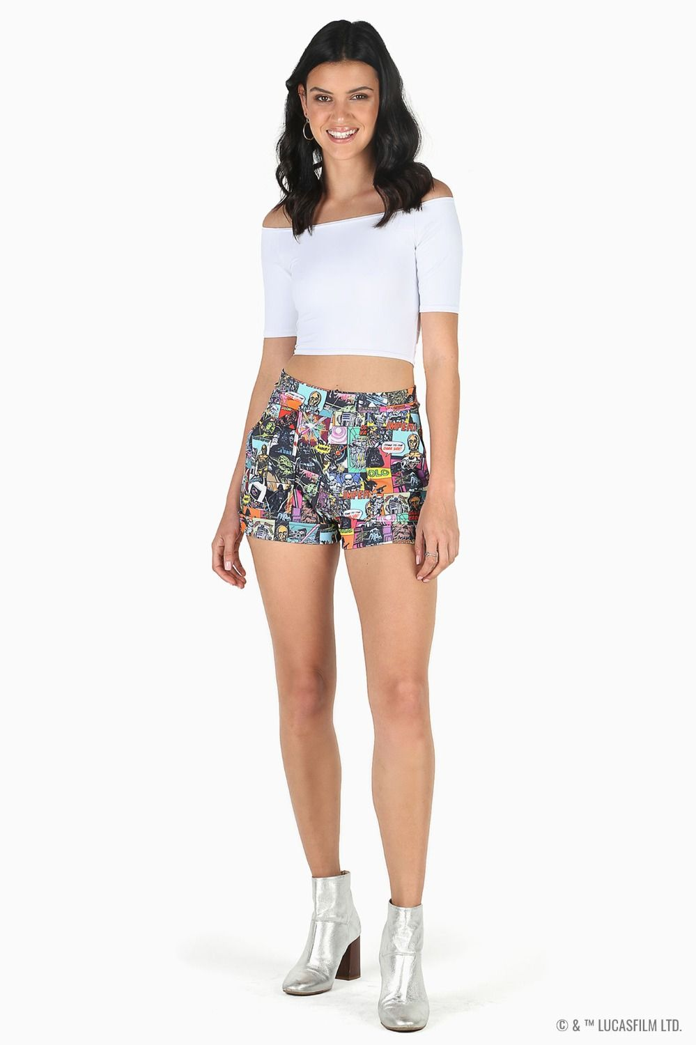 Black Milk Clothing x Star Wars Comic Cuffed Shorts