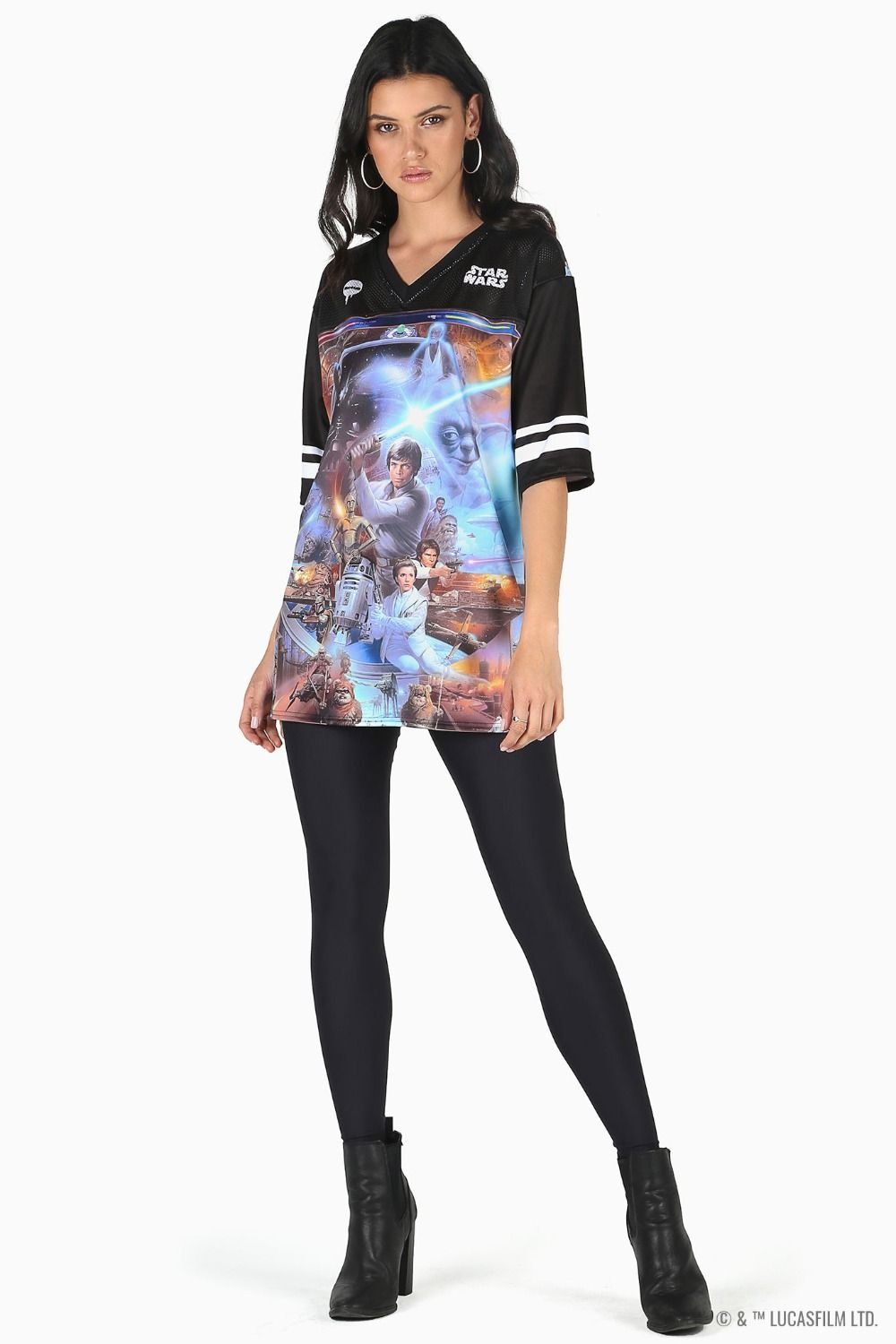 Black Milk Clothing x Star Wars Montage 2.0 Touchdown Athletic Top