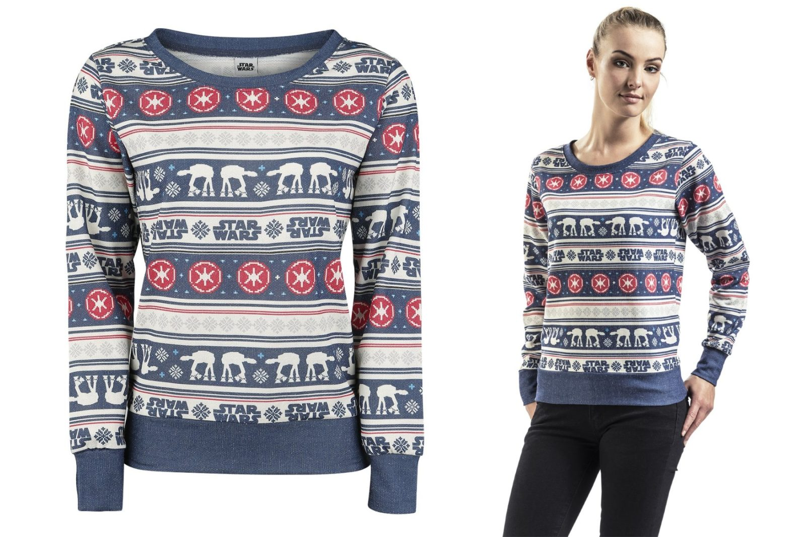 Women's Star Wars Christmas Sweater at EMP