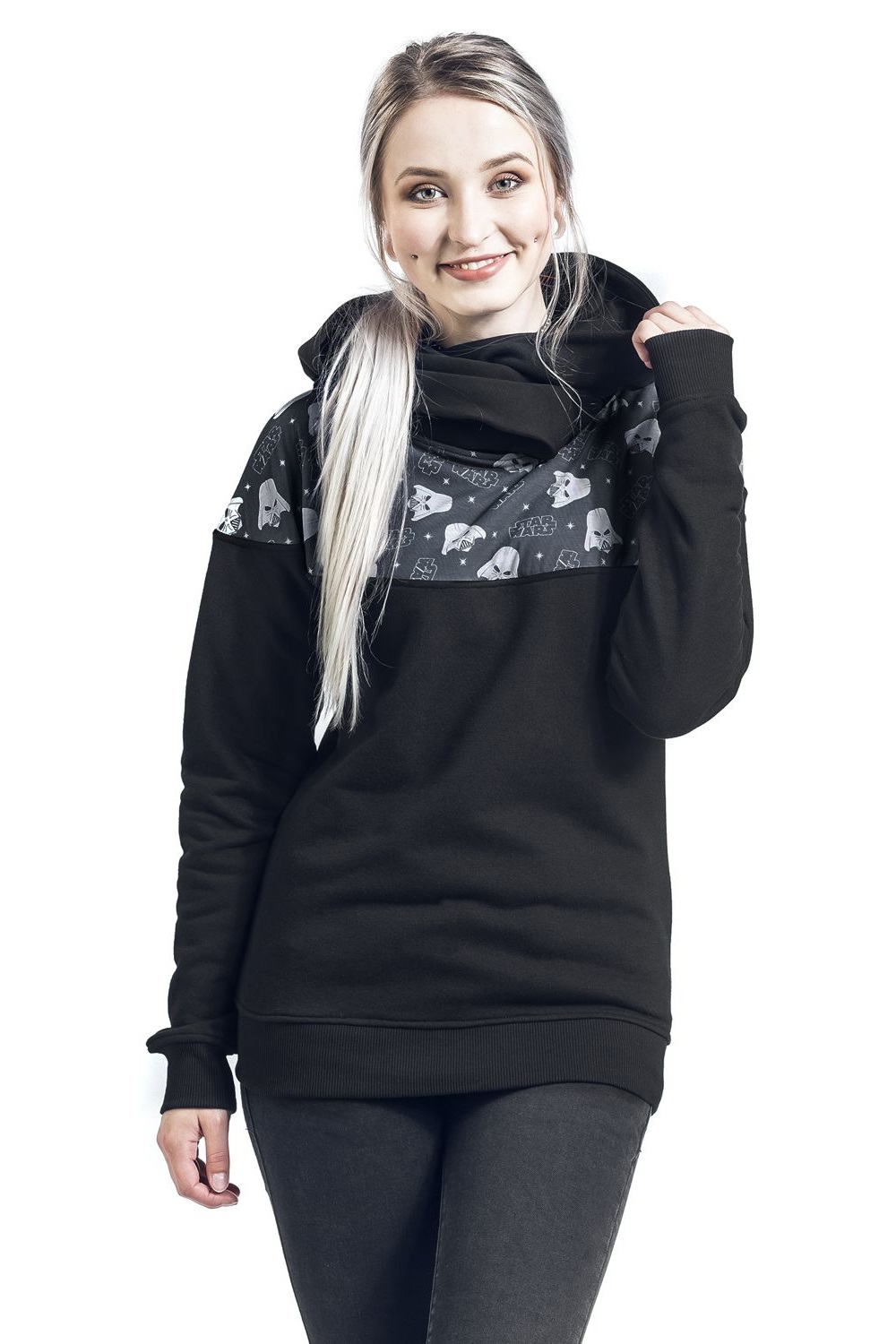 Women's Star Wars Darth Vader Shoulder Print Hoodie at EMP Online