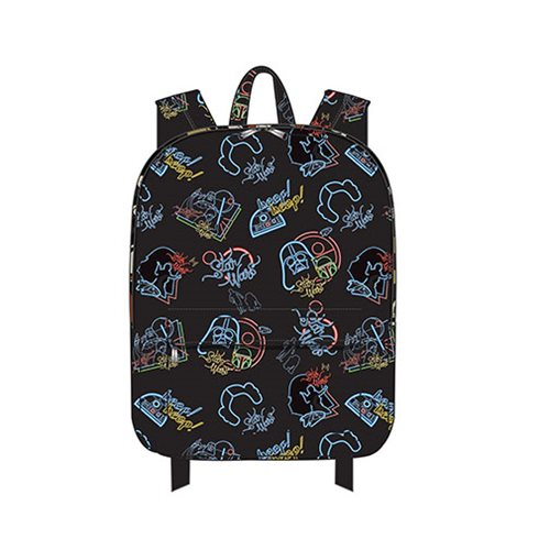 Loungefly x Star Wars Character Neon Print Backpack at Entertainment Earth