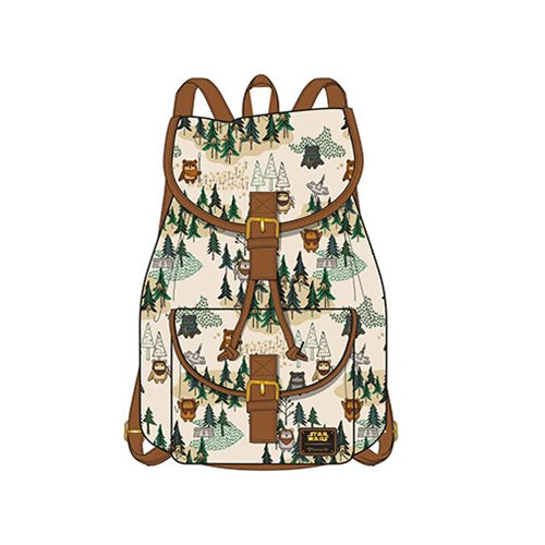 Loungefly x Star Wars Ewok Forest Print Backpack at Entertainment Earth