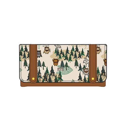 Loungefly x Star Wars Ewok Forest Print Wallet at Entertainment Earth