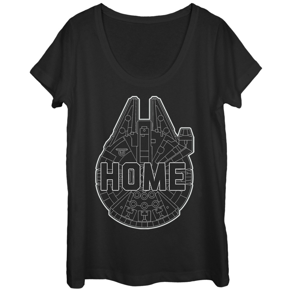 Women's Fifth Sun x Star Wars Millennium Falcon Home T-Shirt