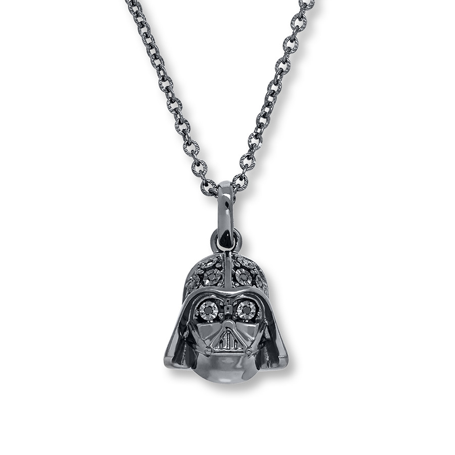 Kay Jewelers x Star Wars Darth Vader Black Diamond Necklace