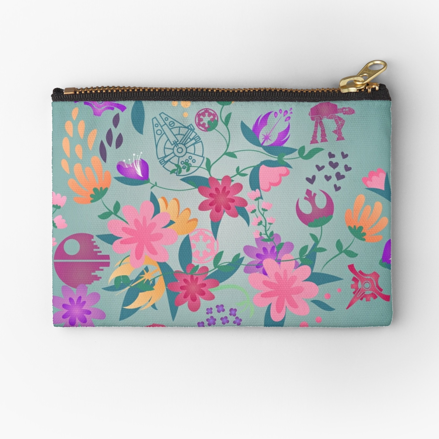 Star Wars Floral Print Zip Up Pouch by Fashions For Fans on RedBubble