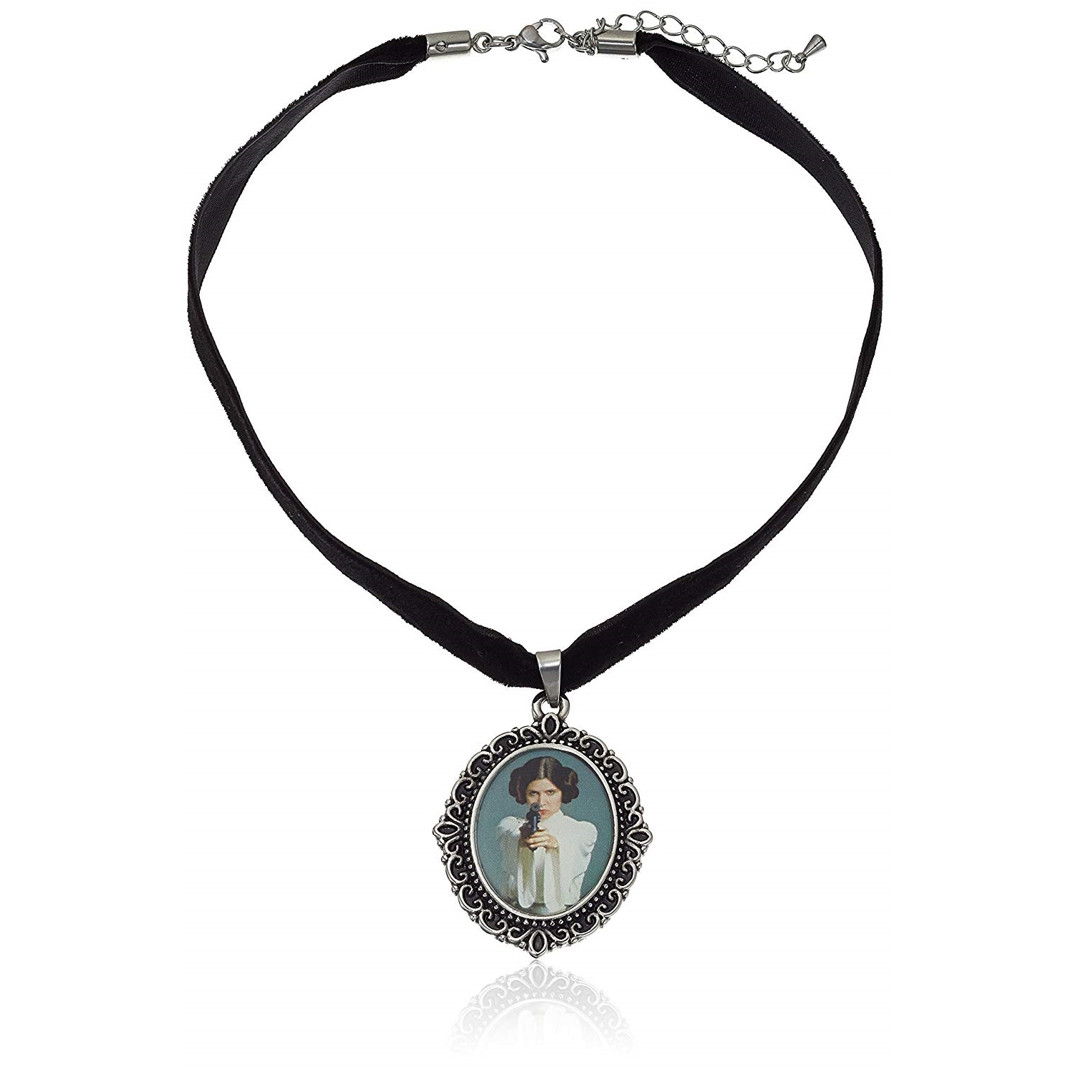 Body Vibe x Star Wars Princess Leia Cameo Necklace on Amazon