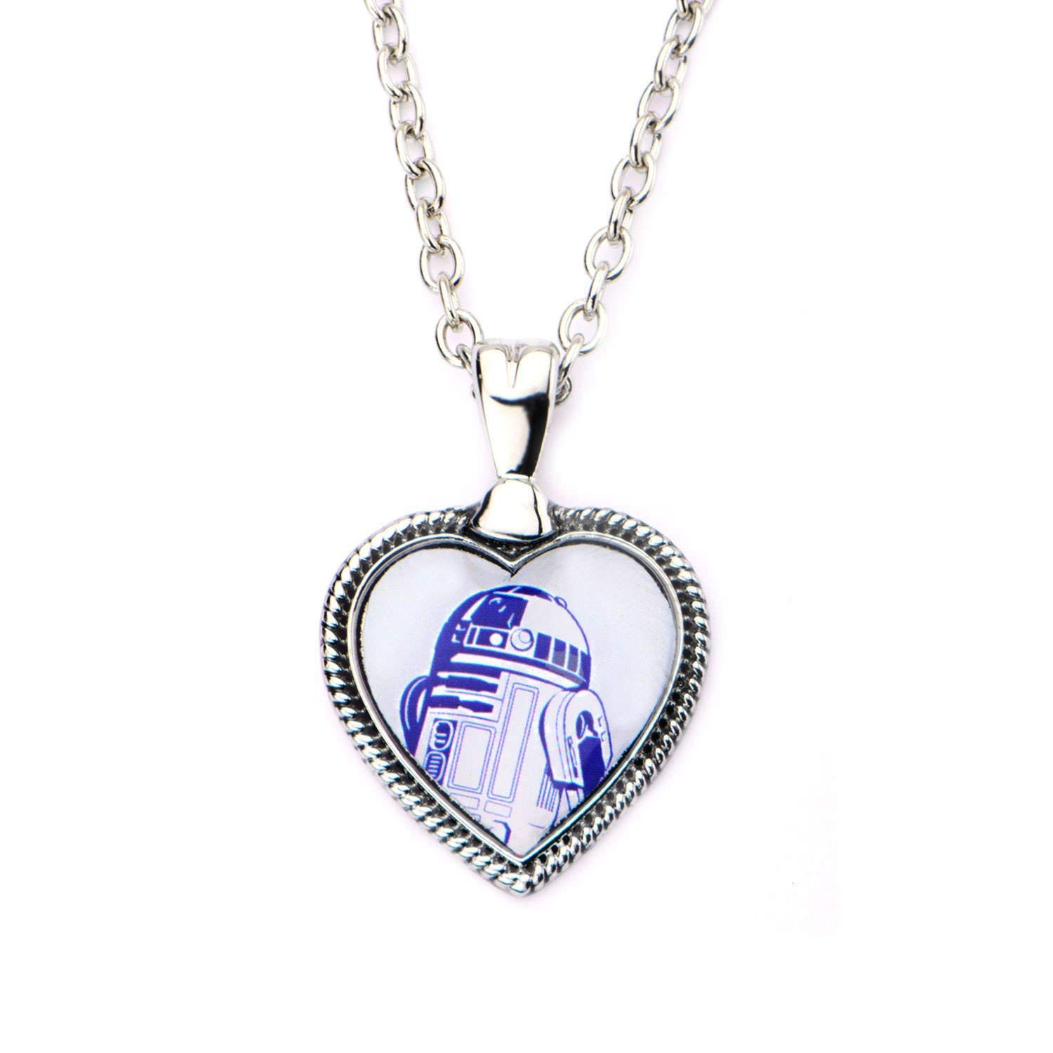 Star Wars R2-D2 heart shaped necklace at Amazon
