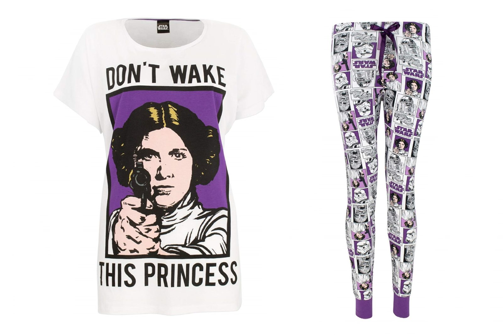 Women's Princess Leia Sleepwear Set on Amazon