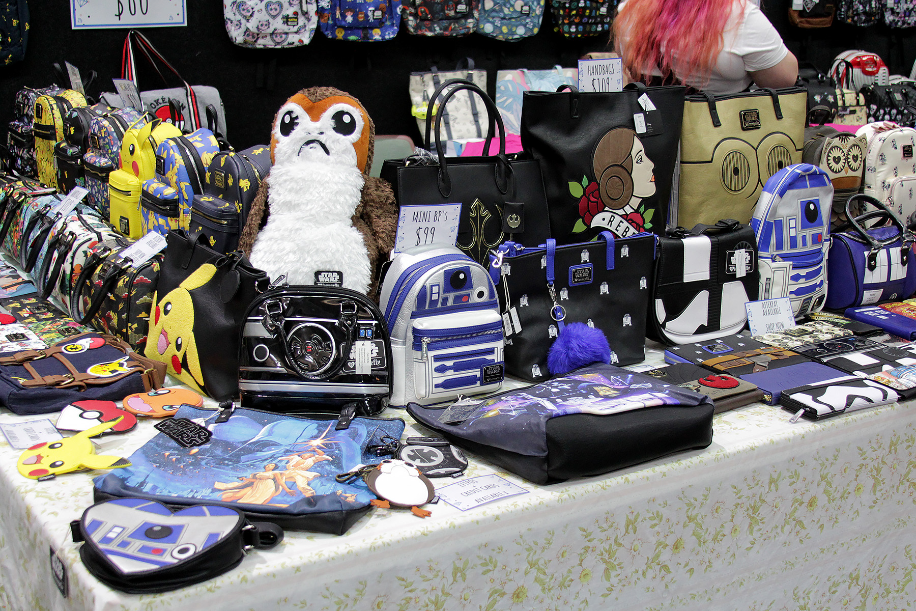 Loungefly x Star Wars Bags and Wallets at the Cobalt Heights booth at Armageddon Expo Auckland 2018