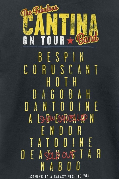 Women's Star Wars Cantina Band On Tour T-Shirt at EMP Online
