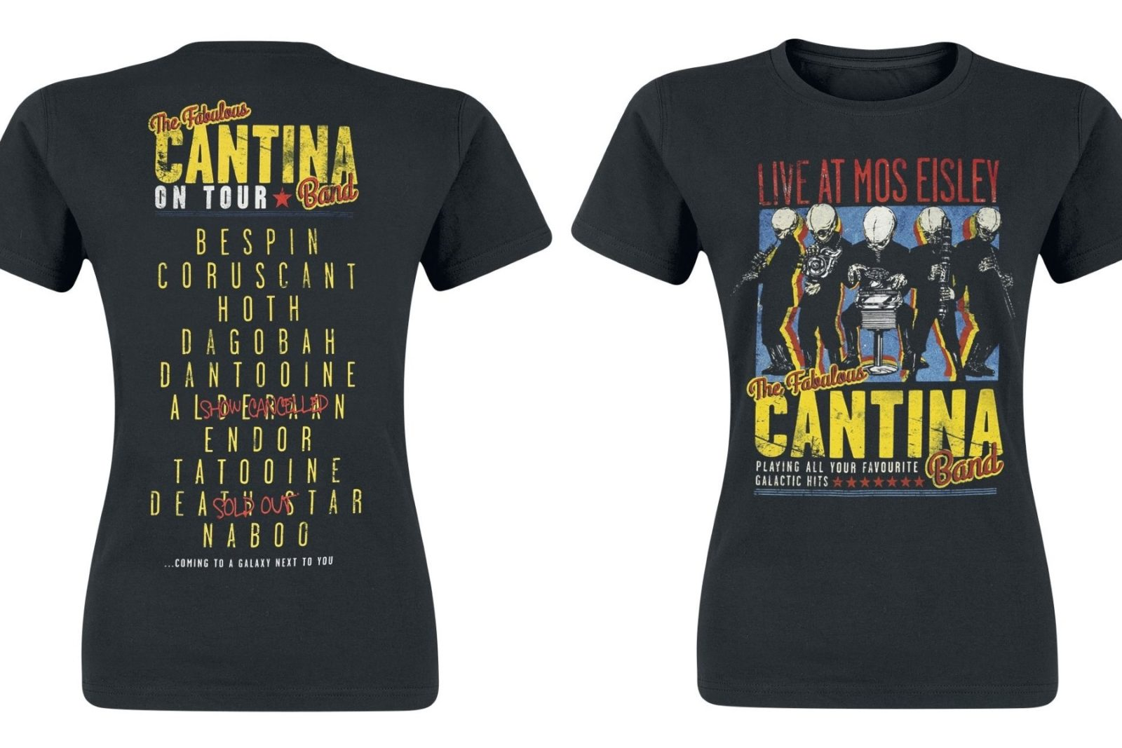 Women's Cantina Band On Tour T-Shirt