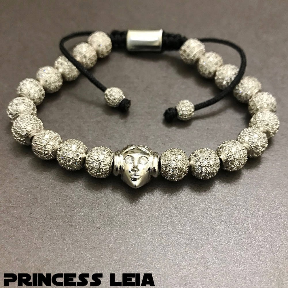 Star Wars Princess Leia Beaded Bracelet by Hippy Wood Designs on Etsy