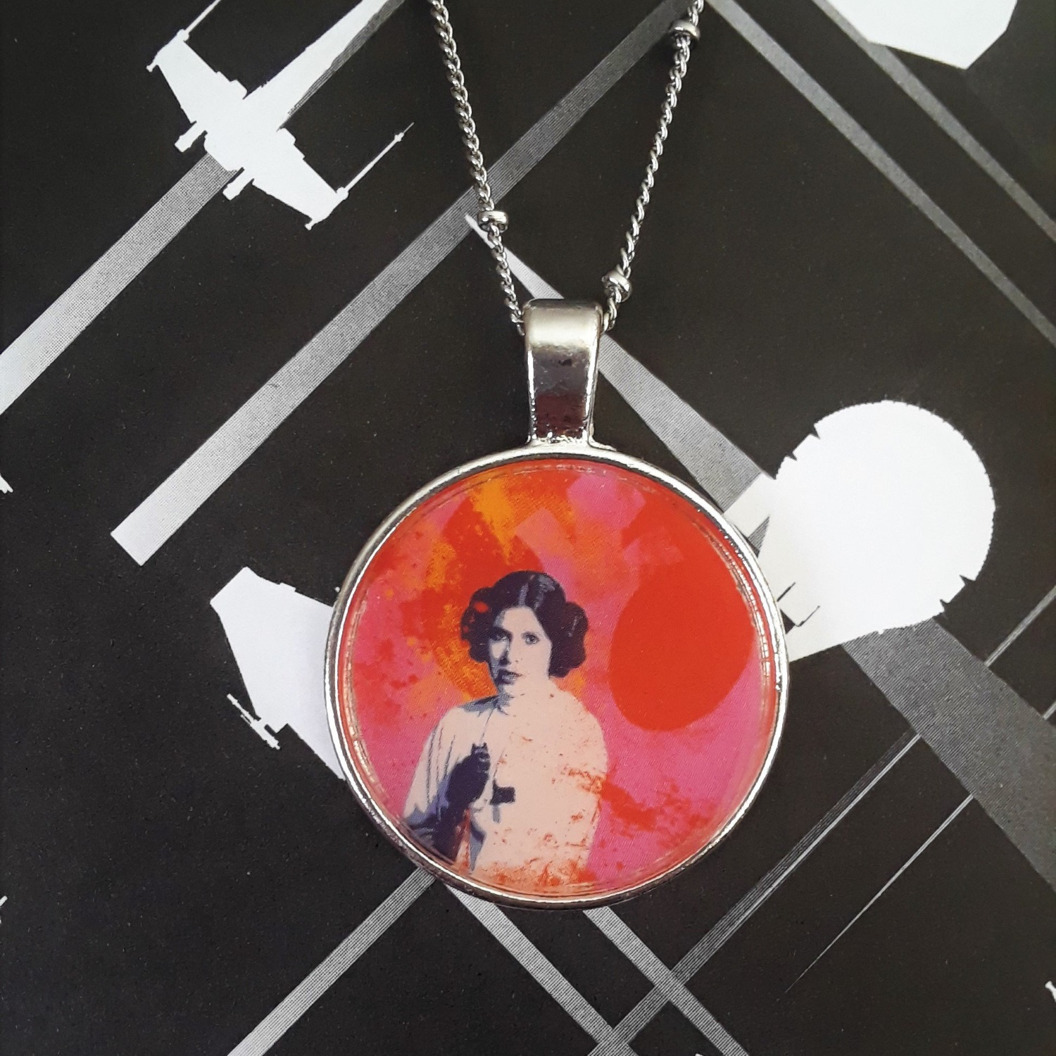 Star Wars Princess Leia Necklace by BluebirdBaublesNV on Etsy